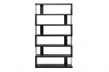 Barnes Dark Brown Six-Shelf Modern Bookcase