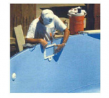 GLI Pool 050018RDBLUOL4852 15ft Round 45-52in Overlap All Blue ABG Liners