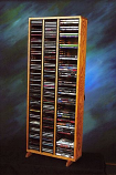 Solid Oak Tower for CD's and DVD's Model 312-4CD/DVD