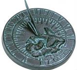 Rome Hummingbird Sundial - Cast Iron with Verdigris