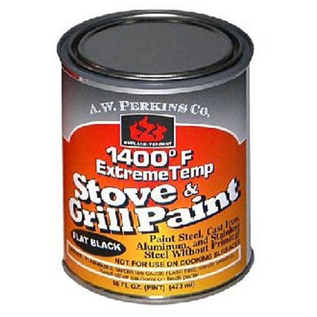 1400 Deg F Black Stove Paint Brush-On - 1 Pint