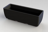"RTS Elevated Planter w/ Stand in Black - 30"" X 10"""