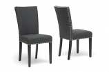 Set of 2 Harrowgate Dark Gray Linen Modern Dining Chair