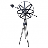 Rome Sphere with Hairpin Base - Black