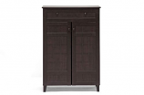 Glidden Dark Brown Wood Modern Shoe Cabinet (Tall)