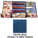 Blue Flame BBQ.UT.PBL Barbecue Utensil Holder With Pockets - Blue