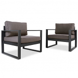 Set of Two Baltic Outdoor Chairs, Black