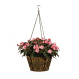Metal Hanging Diamond Pattern Basket with Coco Liner