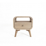 Oak Mood ADR-ZAR139 Adriana Bedside Table - Whitened Oak