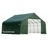 22x28x11 Peak Style Shelter with Green Cover