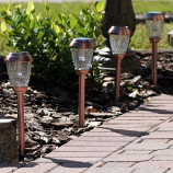 Charleston Solar Pathway Lights - Heritage Copper Finish - pack of 6