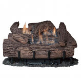 24 Inch Palmetto Oak 6-Piece Log Set & LP Millivolt Control Burner