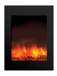"29"" ZECL Electric Fireplace with Black Glass Surround"