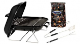 Marsh Allen Tabletop Charcoal Grill with Charcoal and Tool Set - 14""