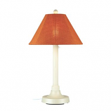 """San Juan 34"""" White Outdoor Table Lamp with Chili Linen Shade"""