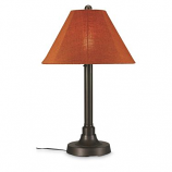 """San Juan 34"""" Bronze Outdoor Table Lamp with Chili Linen Shade"""