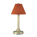 """San Juan 30"""" Bisque Outdoor Table Lamp with Chili Linen Shade"""