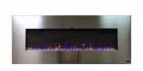 Touchstone 80024 AudioFlare Stainless Recessed Electric Fireplace, 50""