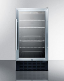 "Summit 18"" Wide Built-in ADA Beverage Cooler with Glass Door -Stainless"