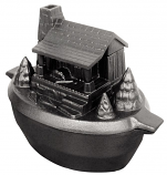 Porcelain-Coated Cast Iron Log Cabin Steamer