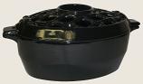 Jet Black Lattice Steamer By John Wright Hearth