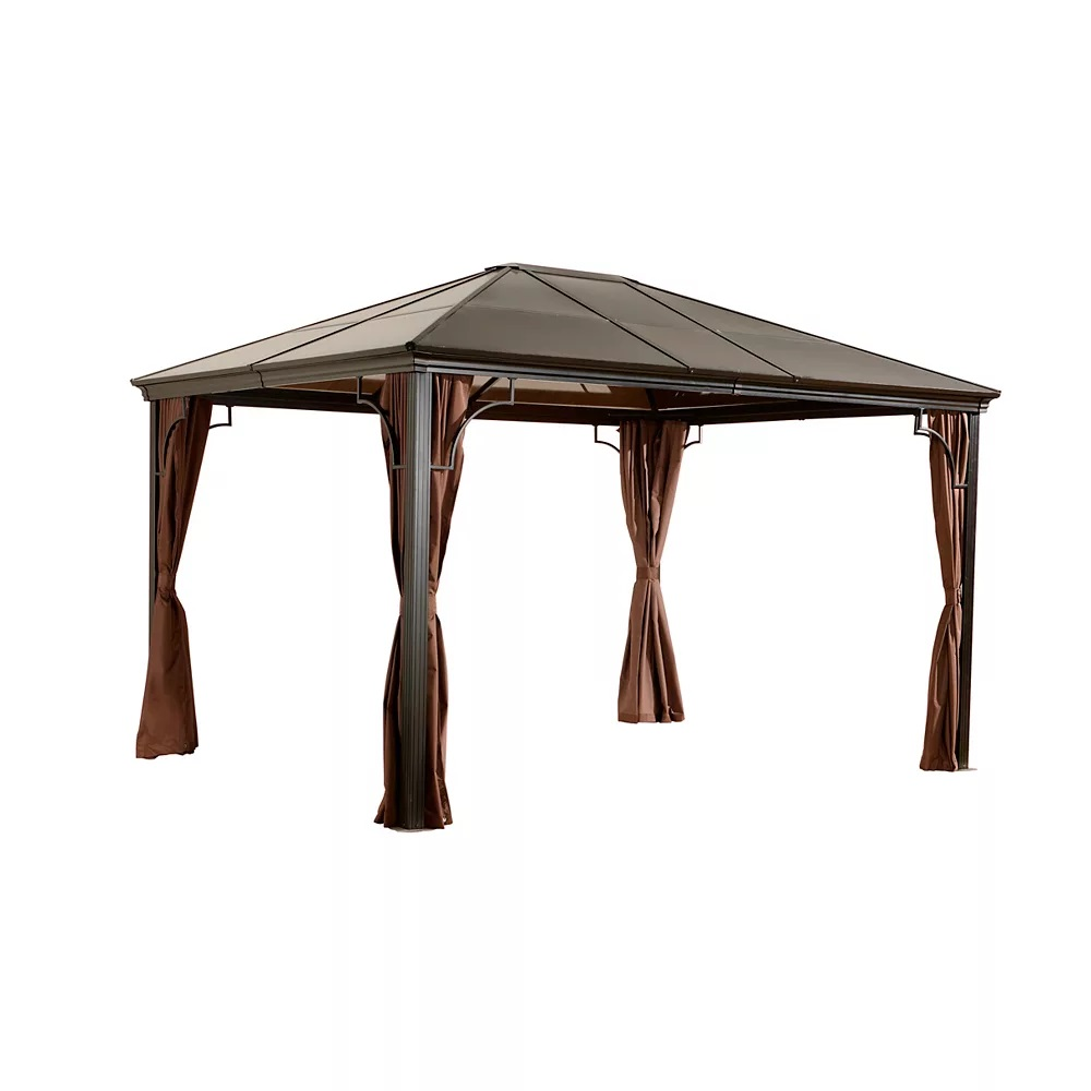 Sojag Sumatra #53 Gazebo With Polycarbonate 6mm Roof -  10x12 Ft