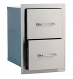Bull Outdoor Double Drawer - Stainless Steel