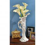 Calla Lily Maiden Vase By Design Toscano