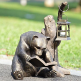 Booklover Bear Garden Lantern