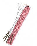Rome Hot Dog Fork Set with Bag - Set of 4