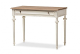 Marquetterie French Provincial Weathered Oak- Whitewash Writing Desk