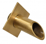 SEG BR002 Diamond Geo Bronze Spout Cannon Scupper Diamond Backplate