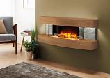Evolution Fires Miami Curve Fire Pit Electric Fireplace - American Oak