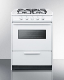 "24"" White Wide SlideIn Gas Range w/Sealed Burners & Oven Window"