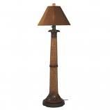 Palm Outdoor Floor Lamp with Teak Sunbrella Shade