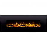 Regal Flame LW5072LE Erie 72in Black Electric Wall Mounted Fireplace - Log