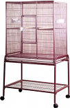 A&E Cage 13221 BURGUNDY 32x21x63in Flight Bird Cage with Stand