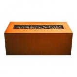 "Firepit Art 60""W Linear Match Lit Fire Pit In Iron Oxide - Liquid Propane"