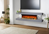 Evolution Fires EFV72GTC 72'' Vegas Electric Fireplace - Carrara Grey