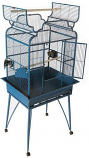 A&E Cage B-2620 BLACK 26x20in Victorian Open Top Cage With Removable Legs