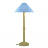 Catalina Bisque Outdoor Floor Lamp with Sky Blue Shade