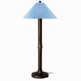 Catalina Bronze Outdoor Floor Lamp with Sky Blue Shade