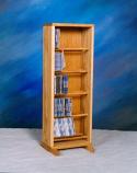 Solid Oak Dowel Cabinet for CD's Model 506-12