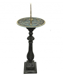Rome Cast Aluminum Spindle Pedestal - Antique Lead
