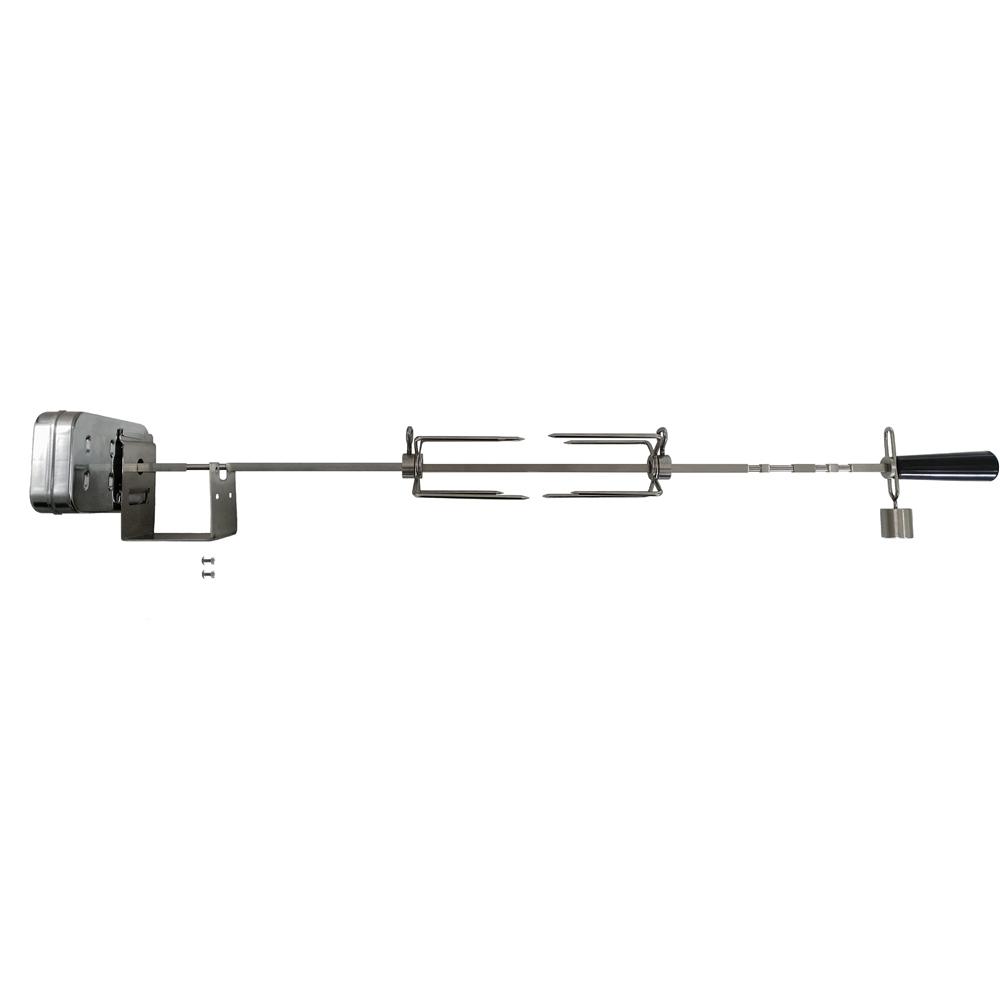 OneGrill 3WSS48 Weber Fit Stainless Rotisserie Kit Chrome Cordless Motor-300Ser