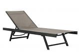 Vivere URBL1-CO Urban Sun Lounger - Aluminum - Cocoa