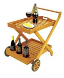 Serving Cart With Tray By ACHLA Designs
