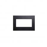 Decorative Metal Surround with Barrier Screen - Matte Black