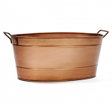 Achla C-81C Oval Copper Plated Tub