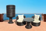 Art-Deck-Oh! Geo-Vino Interlocking Stacking All-weather Wicker Furniture Set